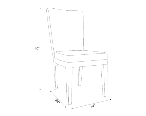 Dining Chair Drawing - Dora
