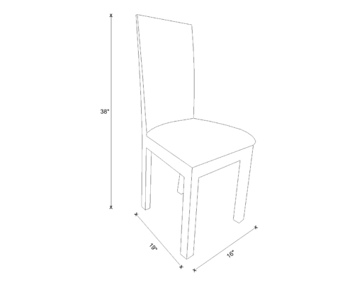 Dining Chair Drawing - Gloria