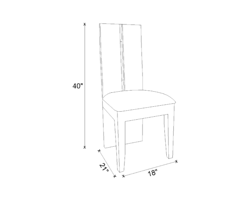 Dining Chair Drawing - Nicole