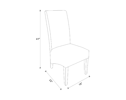 Dining Chair Drawing - Selena